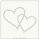 "Artistic Flair, Craft Stencil 101 Range - (4"" x 4"") - Linked Hearts"